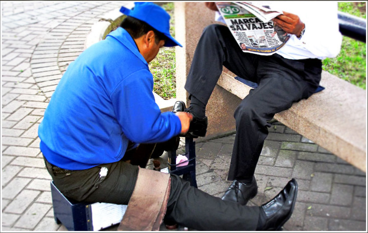the shoeshine boy ..